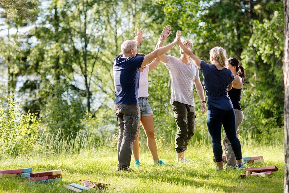 Bedriftsarragement, aktivitet utendørs